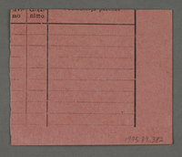 1995.89.382 back Work assignment slip from the Kovno ghetto issued to men  Click to enlarge