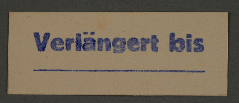 1995.89.407 front Ink stamp impression from an administrative department of the Kovno ghetto