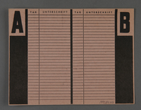 1995.89.413 back Labor card from the Kovno ghetto  Click to enlarge