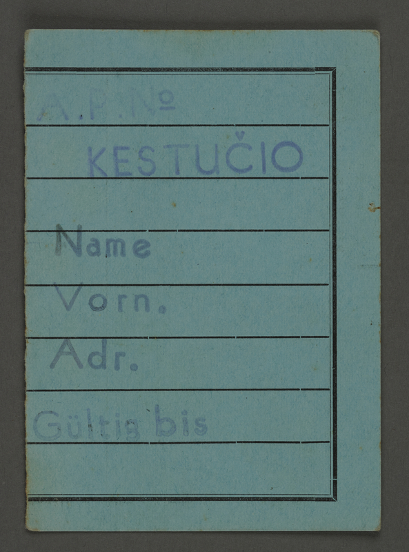 1995.89.423 front Work assignment slip from the Kovno ghetto.