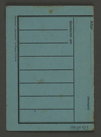 1995.89.423 back Work assignment slip from the Kovno ghetto.  Click to enlarge
