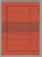 1995.89.424 back Work assignment slip from the Kovno ghetto  Click to enlarge