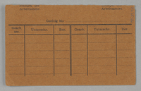 1995.89.426 back Work assignment slip from the Kovno ghetto  Click to enlarge