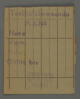 1995.89.431 front Work assignment slip from the Kovno ghetto.  Click to enlarge
