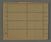 1995.89.431 back Work assignment slip from the Kovno ghetto.  Click to enlarge