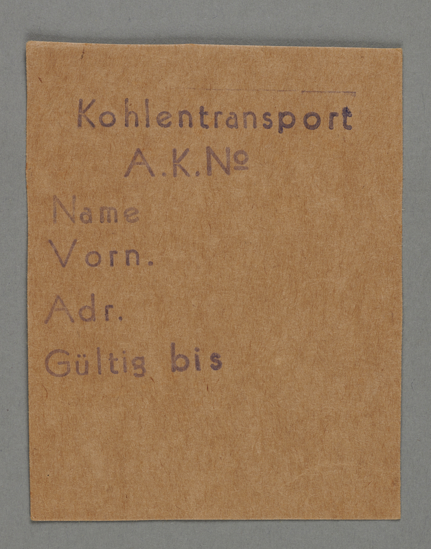 1995.89.432 front Work assignment slip from the Kovno ghetto