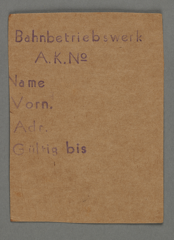 1995.89.433 front Work assignment slip from the Kovno ghetto