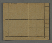 1995.89.435 back Work assignment slip from the Kovno ghetto  Click to enlarge