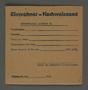 Temporary certificate for housing assignment issued in the Kovno ghetto
