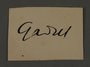 Signature of Fritz Gadiel, head of the Graphics Department in the Kovno ghetto