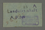 Work assignment slip from the Kovno ghetto