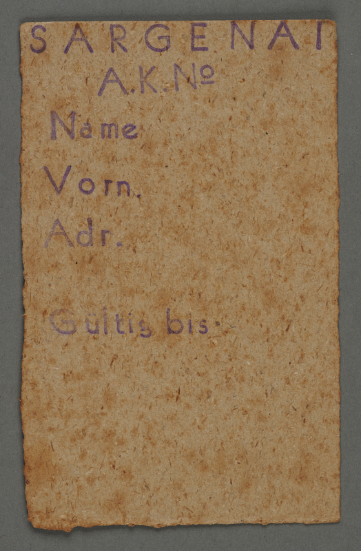 1995.89.447 front Work assignment slip from the Kovno ghetto