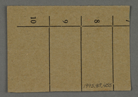 1995.89.455 back Work assignment slip from the Kovno ghetto  Click to enlarge