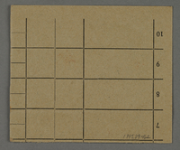 1995.89.462 back Work assignment slip from the Kovno ghetto  Click to enlarge