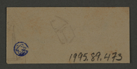1995.89.473 back Ink stamp impression from an administrative department of the Kovno ghetto  Click to enlarge