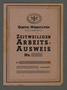 Temporary work-identification papers from the Kovno ghetto workshops