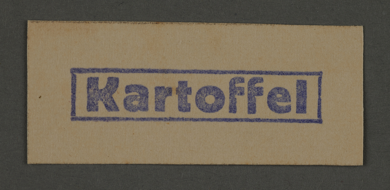 1995.89.491 front Coupon for potatoes issued in the Kovno ghetto