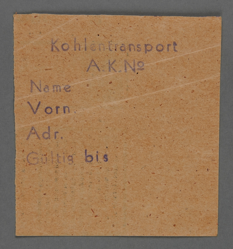 1995.89.503 front Work assignment slip from the Kovno ghetto