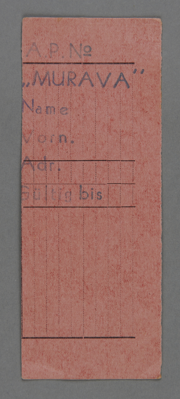 1995.89.507 front Work assignment slip from the Kovno ghetto