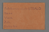 1995.89.511 front Work assignment slip from the Kovno ghetto  Click to enlarge