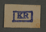Ink stamp impression from an administrative department of the Kovno ghetto