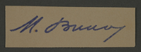 1995.89.517 front Signature of Dr. Moses Braun, head of the Sanitation Department in the Kovno ghetto  Click to enlarge