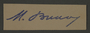 Signature of Dr. Moses Braun, head of the Sanitation Department in the Kovno ghetto