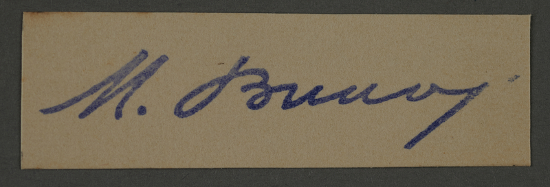 1995.89.518 front Signature of Dr. Moses Braun, head of the Sanitation Department in the Kovno ghetto