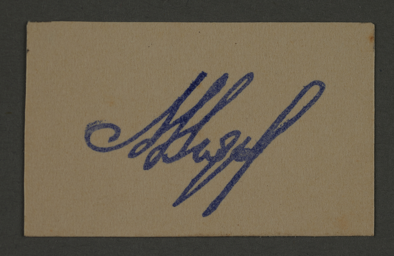1995.89.519 front Ink stamp impression signature of an official in the Kovno ghetto