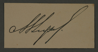 1995.89.523 front Ink stamp impression signature of an official in the Kovno ghetto  Click to enlarge