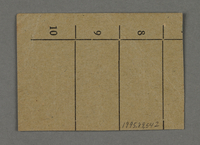 1995.89.542 back Work assignment slip from the Kovno ghetto  Click to enlarge