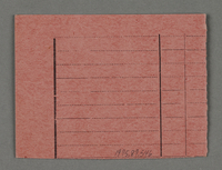 1995.89.546 back Work assignment slip from the Kovno ghetto  Click to enlarge