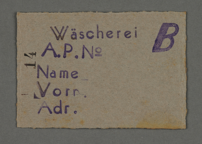 1995.89.548 front Work assignment slip from the Kovno ghetto