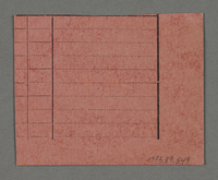 1995.89.549 back Work assignment slip from the Kovno ghetto  Click to enlarge