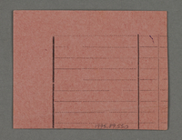 1995.89.550 back Work assignment slip from the Kovno ghetto  Click to enlarge