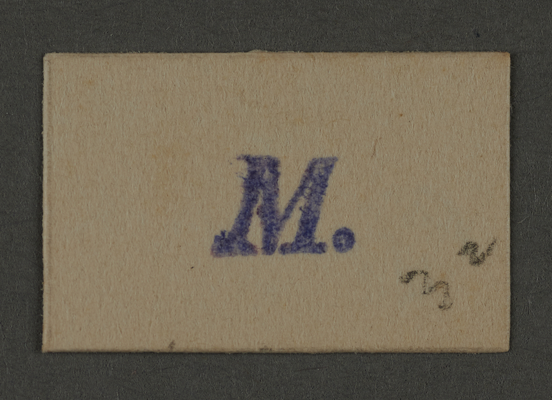 1995.89.555 front Ink stamp impression from an administrative department of the Kovno ghetto