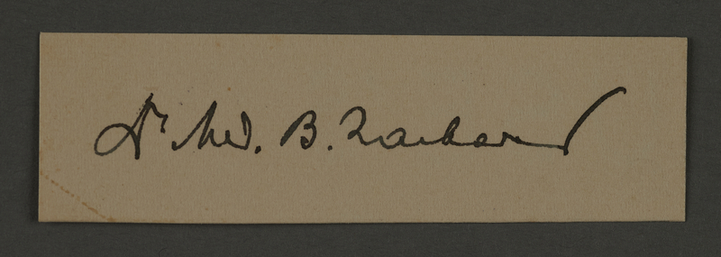 1995.89.559 front Signature of Dr. Benjamin Zacharin, head of the Surgical Department in the Kovno ghetto