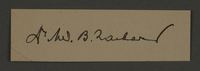 1995.89.559 front Signature of Dr. Benjamin Zacharin, head of the Surgical Department in the Kovno ghetto  Click to enlarge