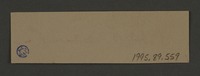1995.89.559 back Signature of Dr. Benjamin Zacharin, head of the Surgical Department in the Kovno ghetto  Click to enlarge
