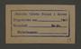 Stamp permit of the Jewish Ghetto Police, Precinct 1, of the Kovno ghetto
