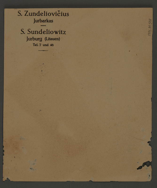 1995.89.598 back Kovno ghetto police permit