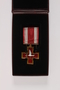 Life Saving Cross with a striped ribbon and presentation box awarded to a Lithuanian rescuer
