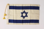 Tasseled Israeli Flag owned by an aid for the mayor of New York City