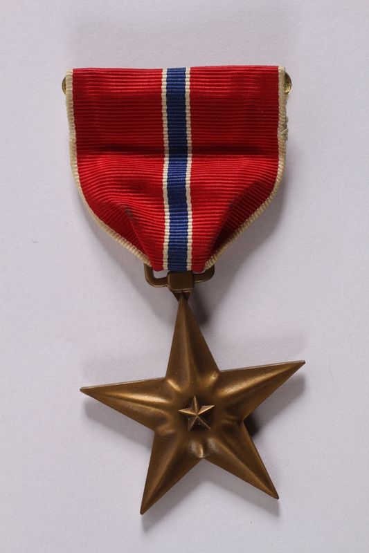 2011.447.11.5 front Bronze Star medal with ribbon presented to a Jewish US soldier
