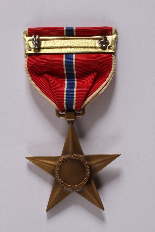 2011.447.11.5 back Bronze Star medal with ribbon presented to a Jewish US soldier