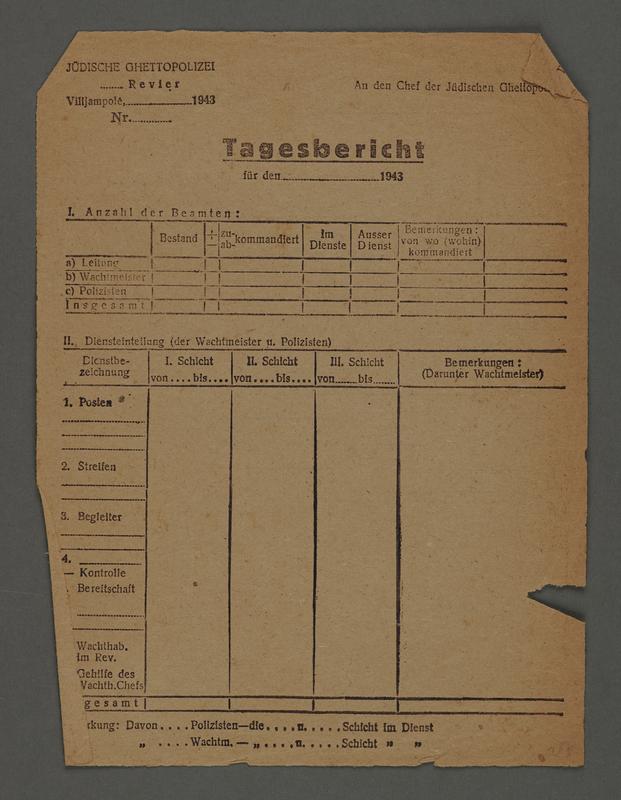 1995.89.600 front Kovno ghetto police permit/pass