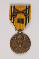 2014.427.2 a front Commemorative Medal of War by a Belgian soldier and former POW  Click to enlarge