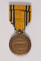 2014.427.2 a back Commemorative Medal of War by a Belgian soldier and former POW  Click to enlarge