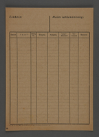 1995.89.601 front Invoice used by workshop in the Kovno ghetto  Click to enlarge