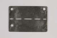 2014.427.5 back Prisoner ID tag issued to a Belgian soldier and former POW  Click to enlarge